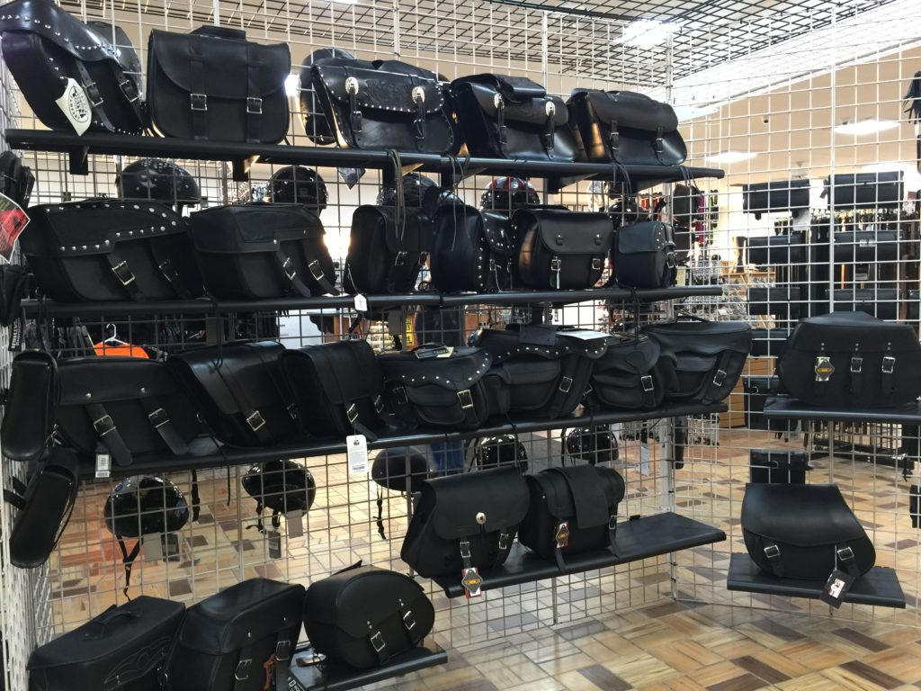 Leather Motorcycle Saddle Bags by AM Leather, Romulus, MI